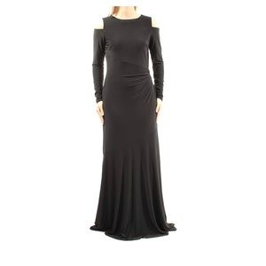 🖤 Ralph Lauren Women's Cold Shoulder Maxi Dress